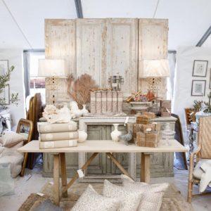 furniture at Marburger Farm Antique Show in Round Top, Texas